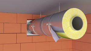 3D pipe insulation model