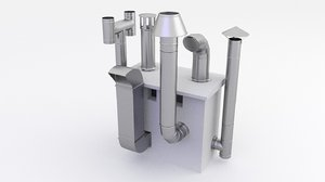 ventilation roof vent 3D model