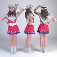3D girl cheerleader