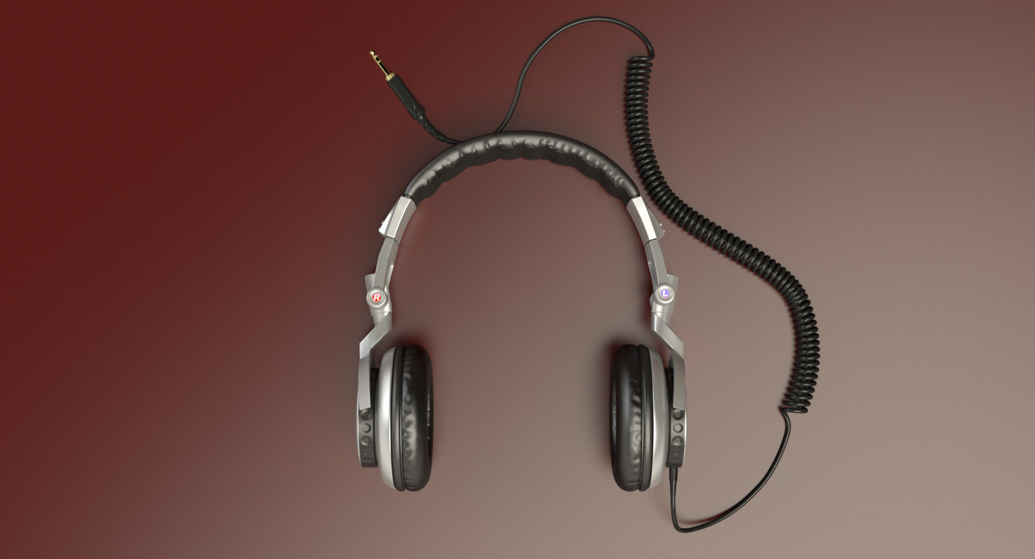 3D model sony headphones