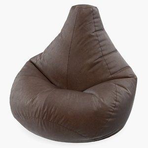 leather bean bag chair 3D
