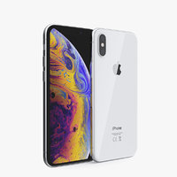 3D silver iphone xs phones