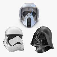 star wars helmets 2 model