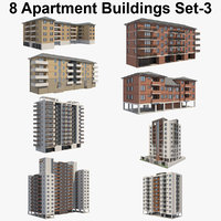 8 Apartment Buildings Set_3