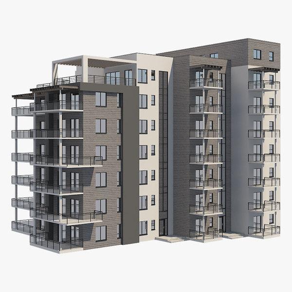 3D apartment building 25