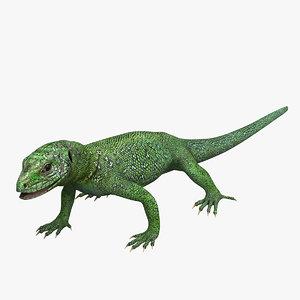3dsmax green lizard