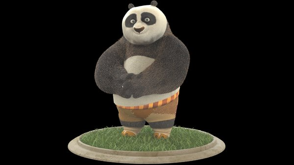 3D po kung fu panda