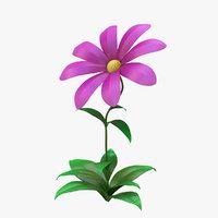 cartoon flower 3D model