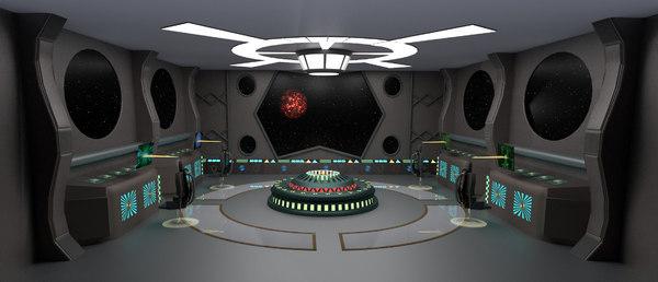 3D starship command center
