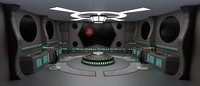 3D starship command center