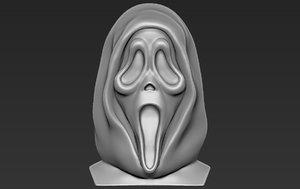 ghostface scream bust ready 3D model