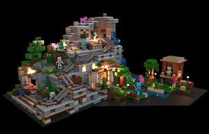 minecraft lego 3D model