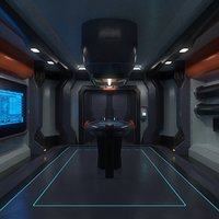 sci fi interior game ready