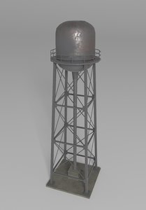 water tower 3D