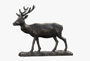 3D model sculpture deer
