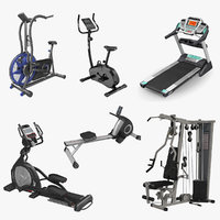 Exercise Equipment 3D Models Collection 2