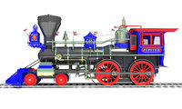 jupiter locomotive train 3D