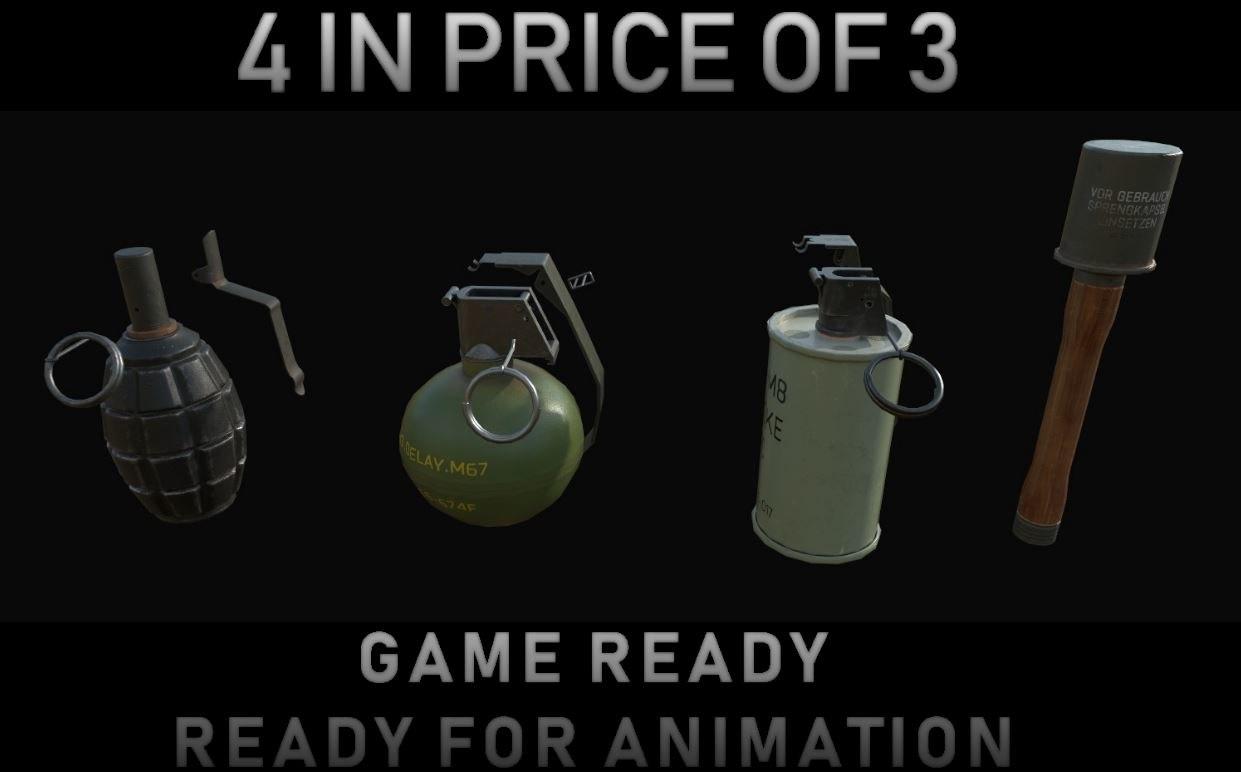 grenades ready assets 3D model
