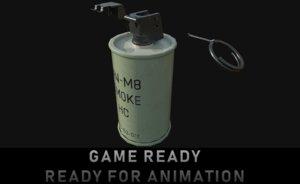 3D anm8 smoke grenade model