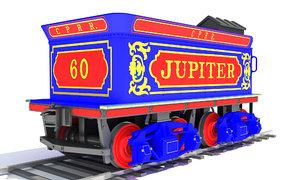 train tender 3D model