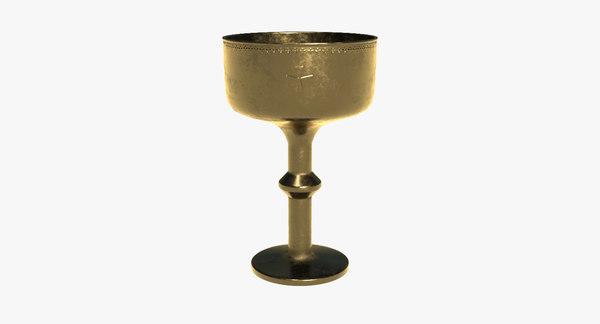 gold goblet 3D model