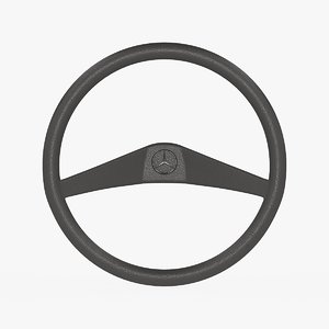 3D mercedes-benz 100 steering wheel model