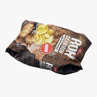 3D potato chips model