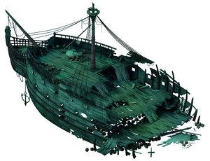 3D shipwreck - wreck 01