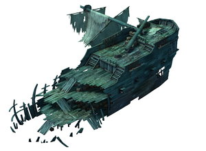 3D model gulf shipwreck - wreck