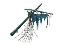 shipwreck - broken mast model