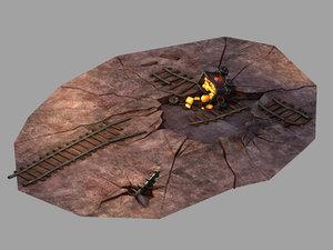 blacklight - broken minecart model