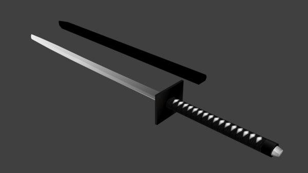 weapons ninja-to 3D model