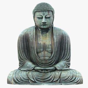 3D great buddha statue