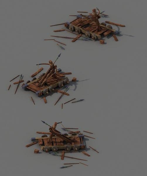 barracks - broken vehicle 3D model