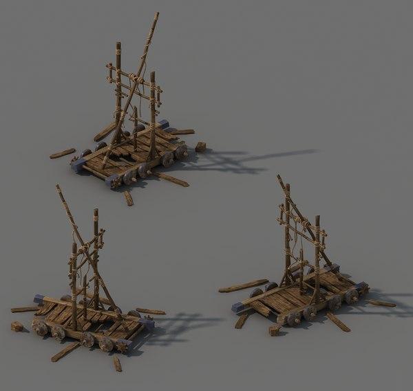 barracks - chariots 3D