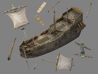 3D kazlog shallow bay - model