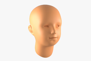 3D boy head basemesh