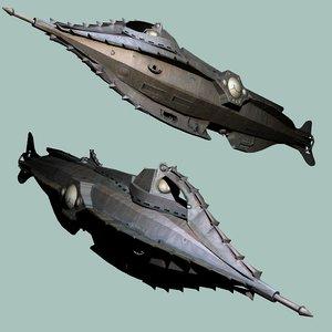 3d model fantasy submarine