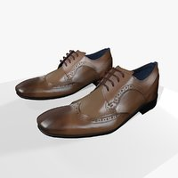 mens leather shoes 3D model