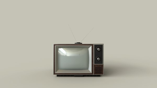 classic television 3D model