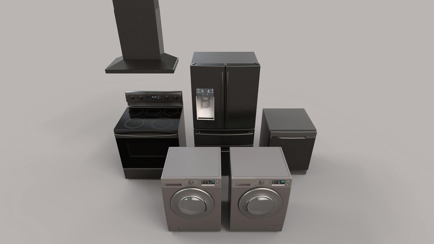 modern appliances oven 3D model