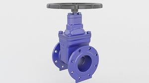 valve gate 3D model