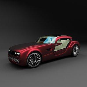 3D luxury coupe