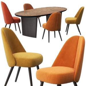 3D identities chairs patchwork table model