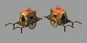 3D model desert gobi - carriage
