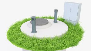 pump sewage station 3D