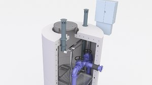 3D pump sewage station model