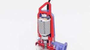 3D pump sewage submersible