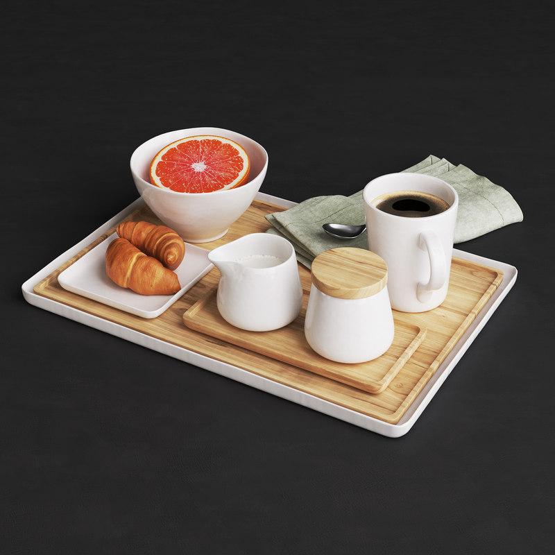 3D tray coffee model