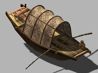 journey west - boat 3D model